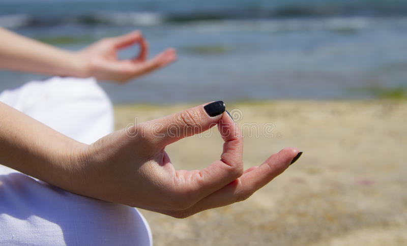 Meditating fotografia stock