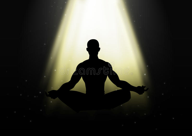 meditating stock illustratie