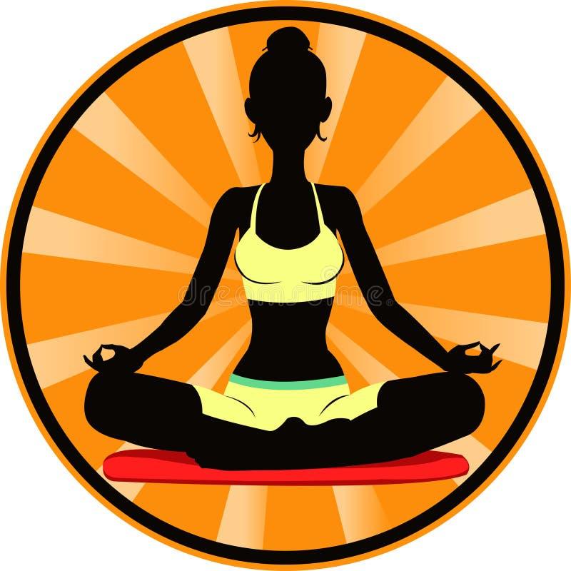 meditating royalty-vrije illustratie