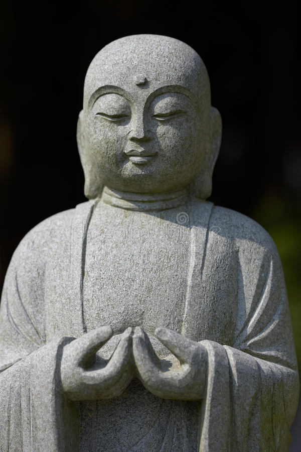 Meditating Buddha Bust stock image