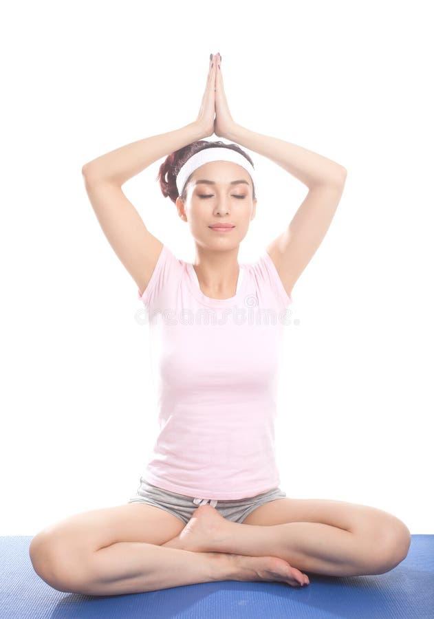 Meditating Girl Royalty Free Stock Photography