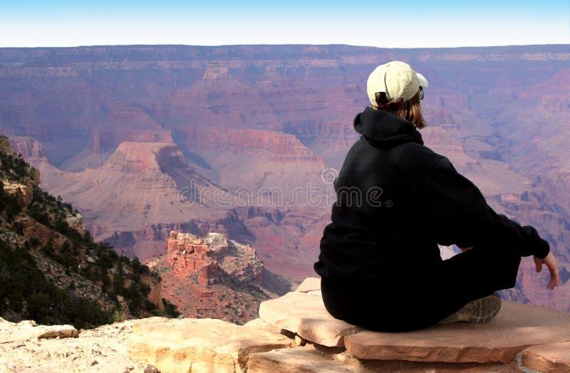 Download Meditating At The Grand Canyon Stock Photo - Image of hike, wonder: 5366488