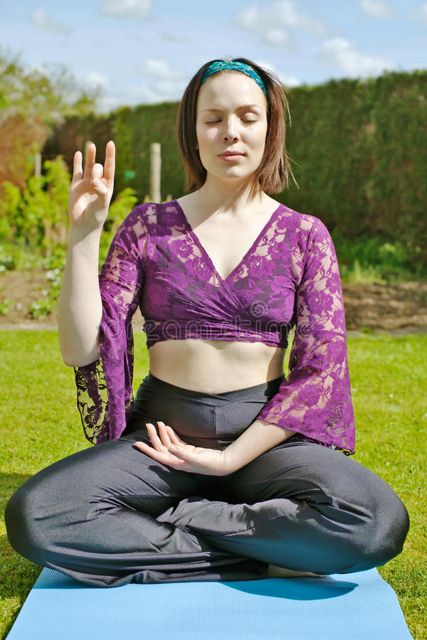 Download Meditating young woman stock photo. Image of healthy - 27959730