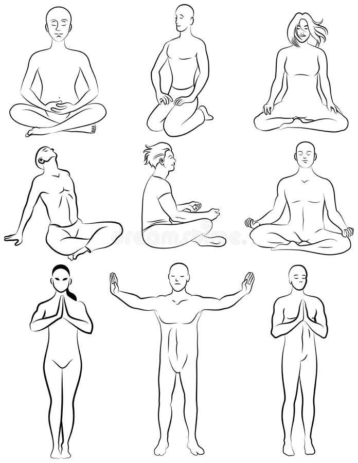 Download Meditation 1 vektor abbildung. Bild von frau, kunst, konzept - 27777738