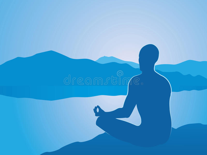 meditation stock illustrationer