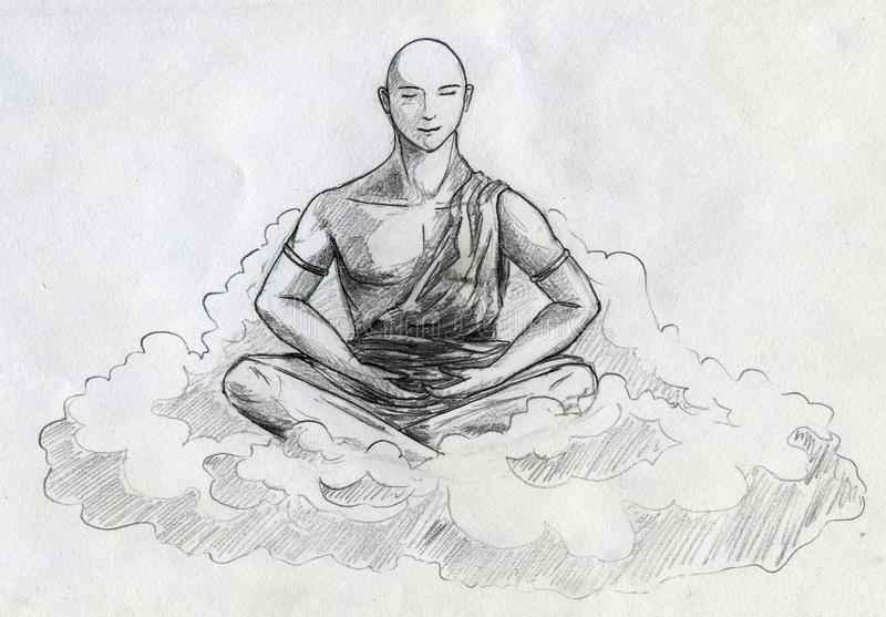 Download Meditation stock illustration. Illustration of meditation - 26793034