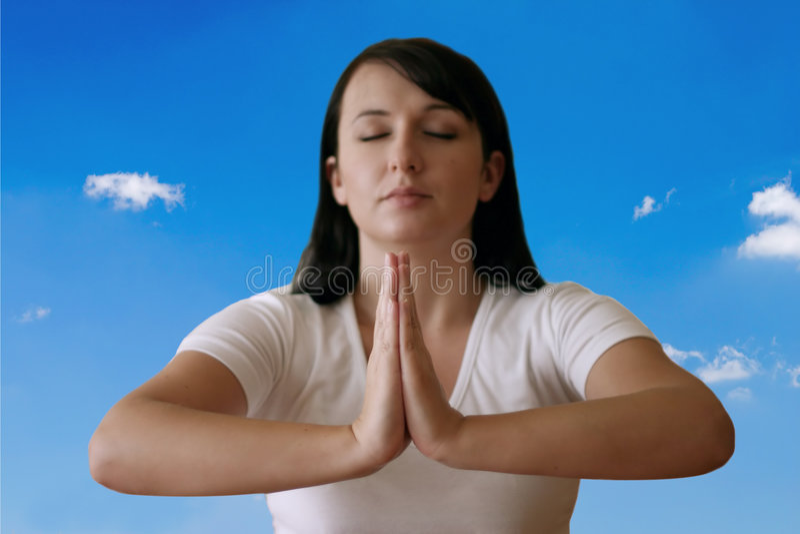 Download Meditation arkivfoto. Bild av kors, kvinnligt, stillhet - 27214