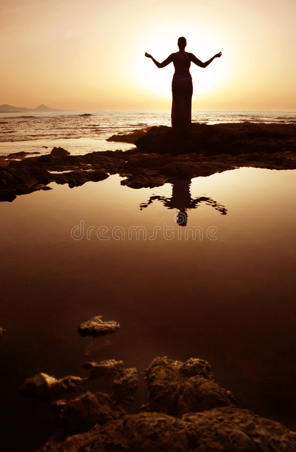 meditation royaltyfria foton