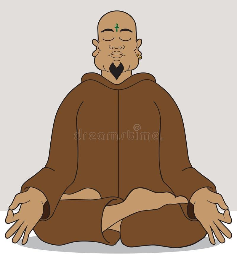 meditation ilustração do vetor