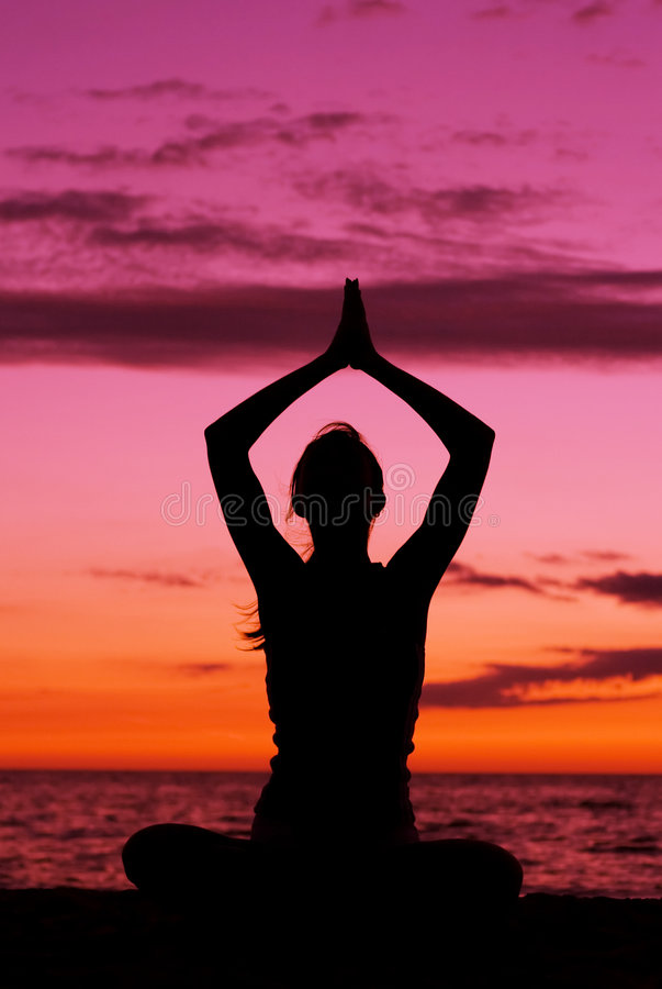 Meditation. stock photo