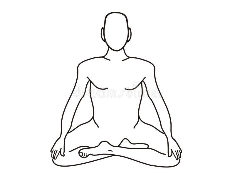 Meditation vektor abbildung