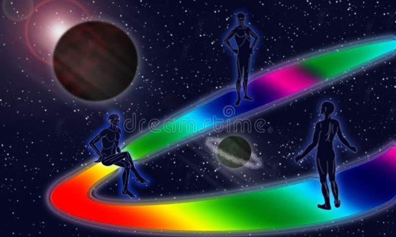 Download Meditation stock illustration. Image of future, mans, colour - 6926034