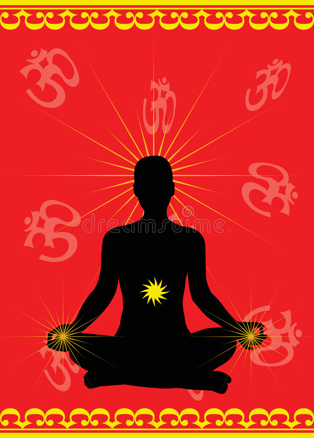 Download Meditation stock vector. Image of energy, aged, body, asana - 7844641