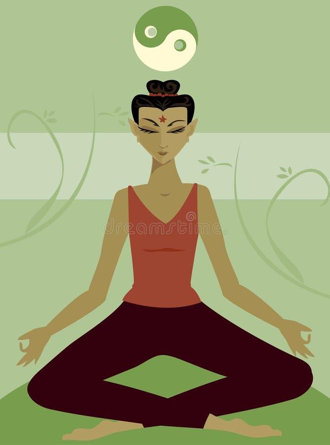 meditation royaltyfri illustrationer