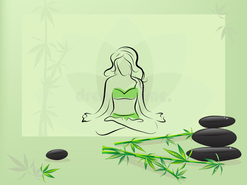 meditation stock illustrationer