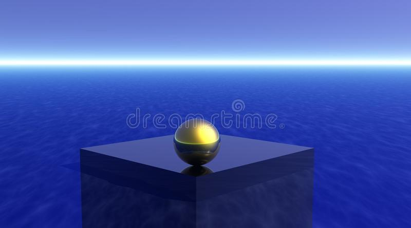 Download Meditation stock illustration. Image of beauty, cube, light - 9677341