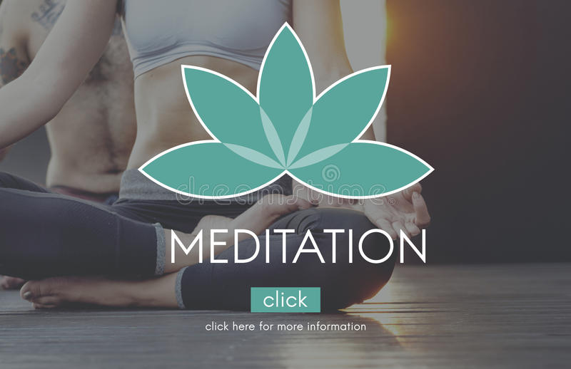 Meditation Balance Yoga Zen Serenity Relaxation Concept royalty free stock photography