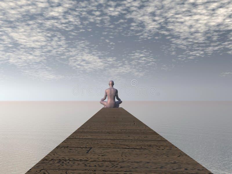 Download Meditation - 3D render stock illustration. Illustration of buddhism - 39304051