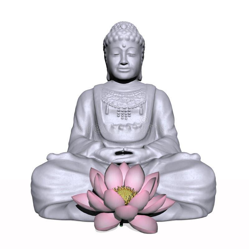 Meditation - 3D render royalty free illustration