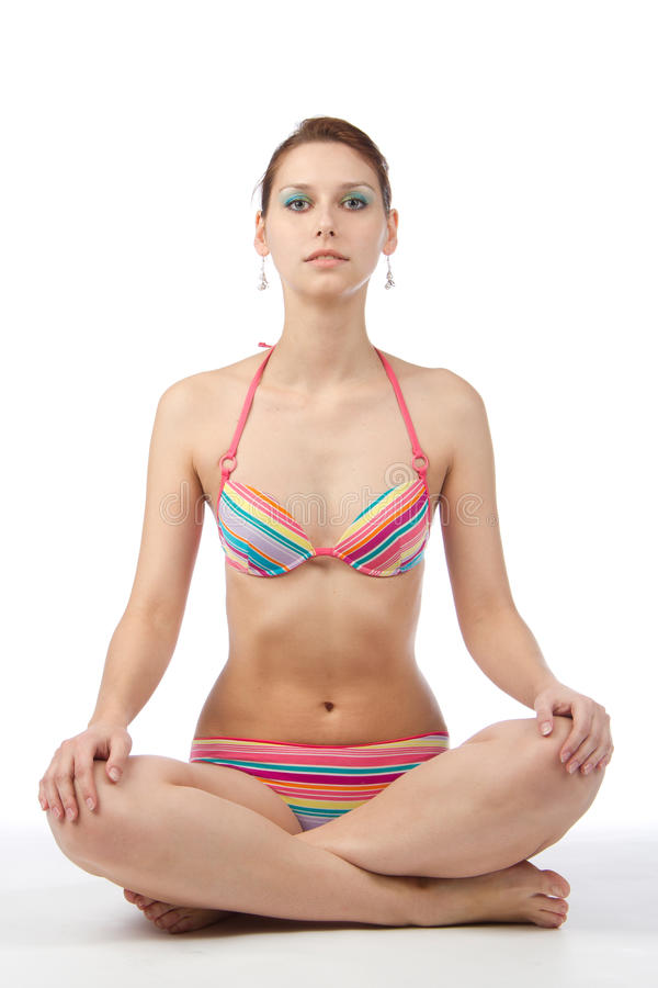 Meditation der jungen Frau lizenzfreies stockfoto