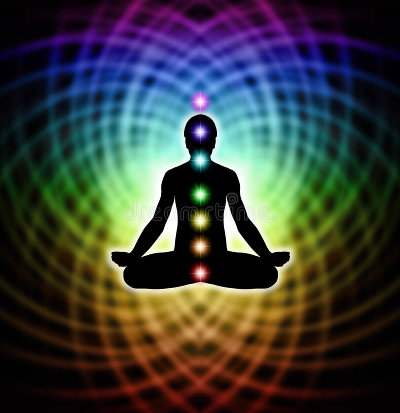 Meditation in der Matrix stock abbildung