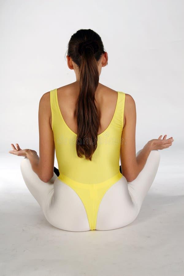 Meditation exercise royalty free stock photo