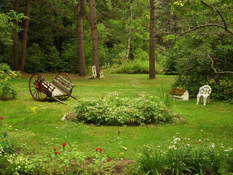 Meditation Garden stock photo