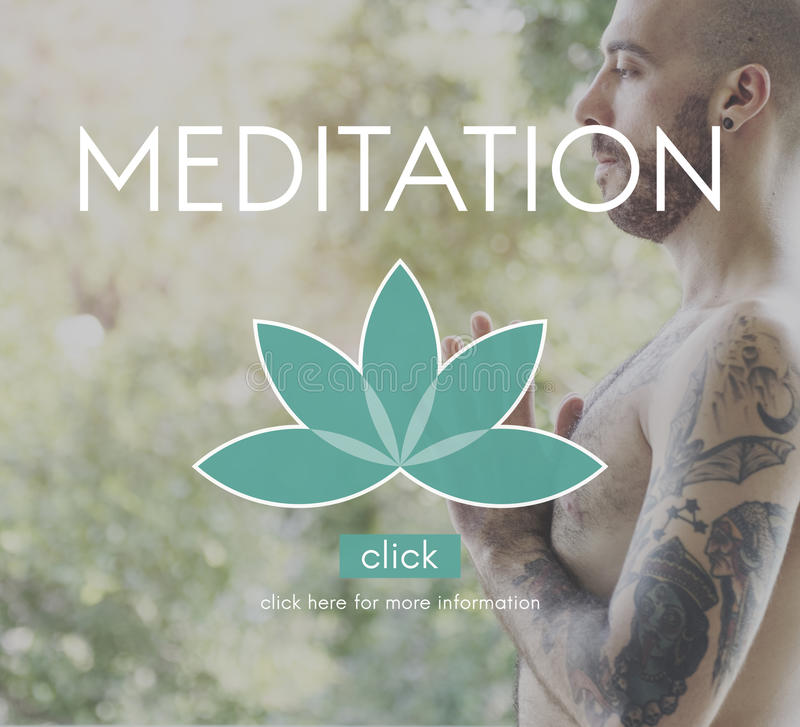 Meditation Healthcare Lotus Flower Graphic Concept royalty free stock images
