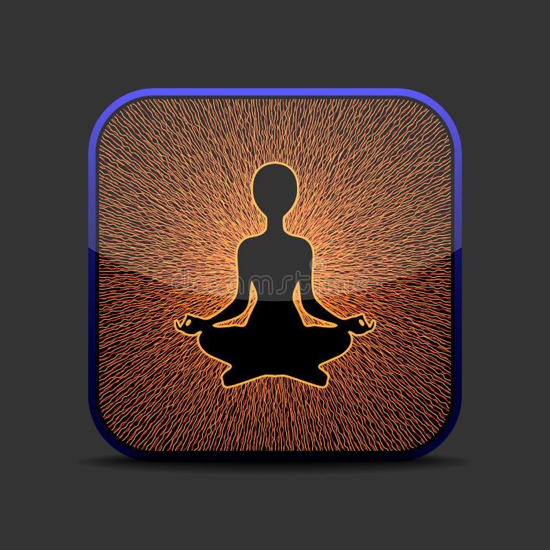 Meditation icon royalty free illustration