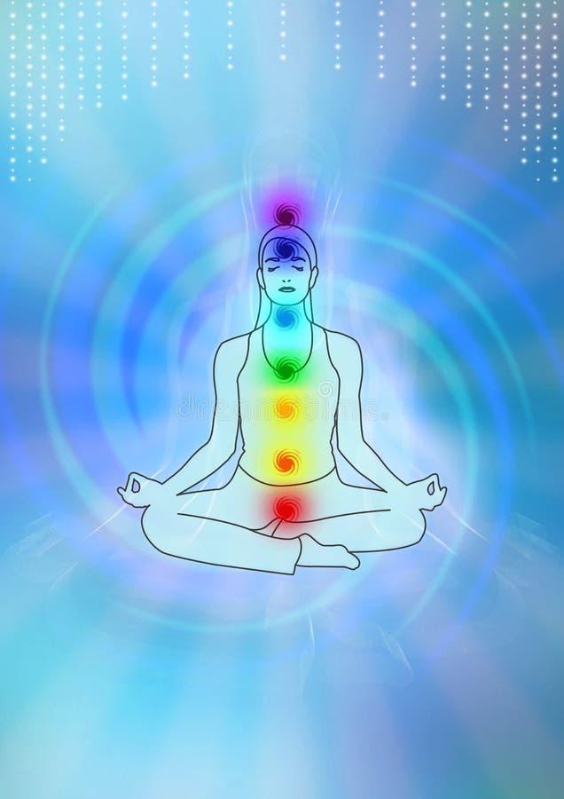 Meditation illustration royalty free stock photo