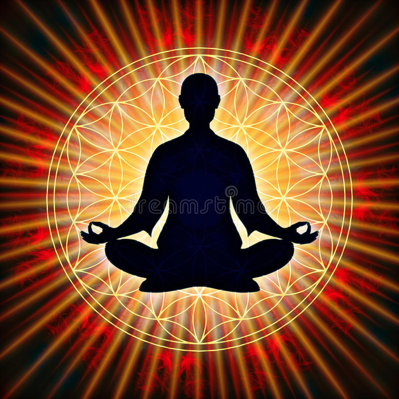 In Meditation vector illustration