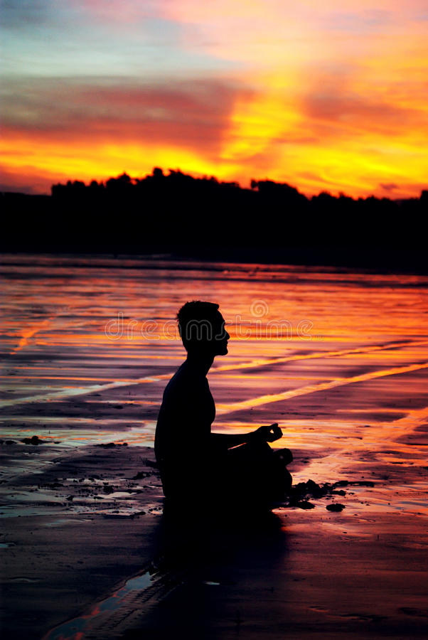 Meditation man royalty free stock photos