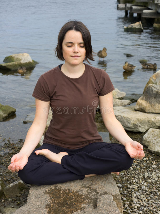 Meditation in Nature stock photography