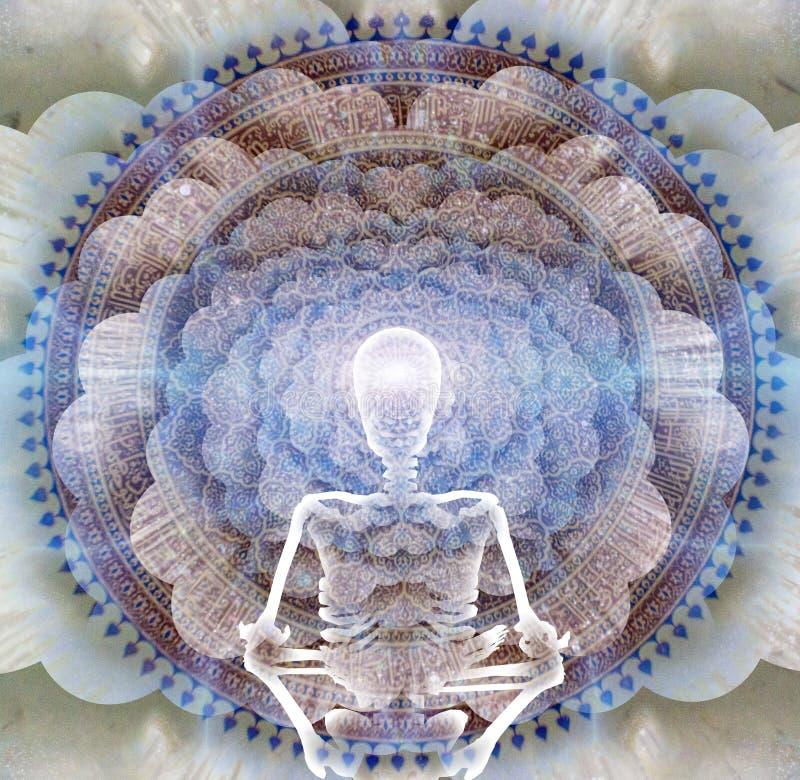 meditation ilustração stock