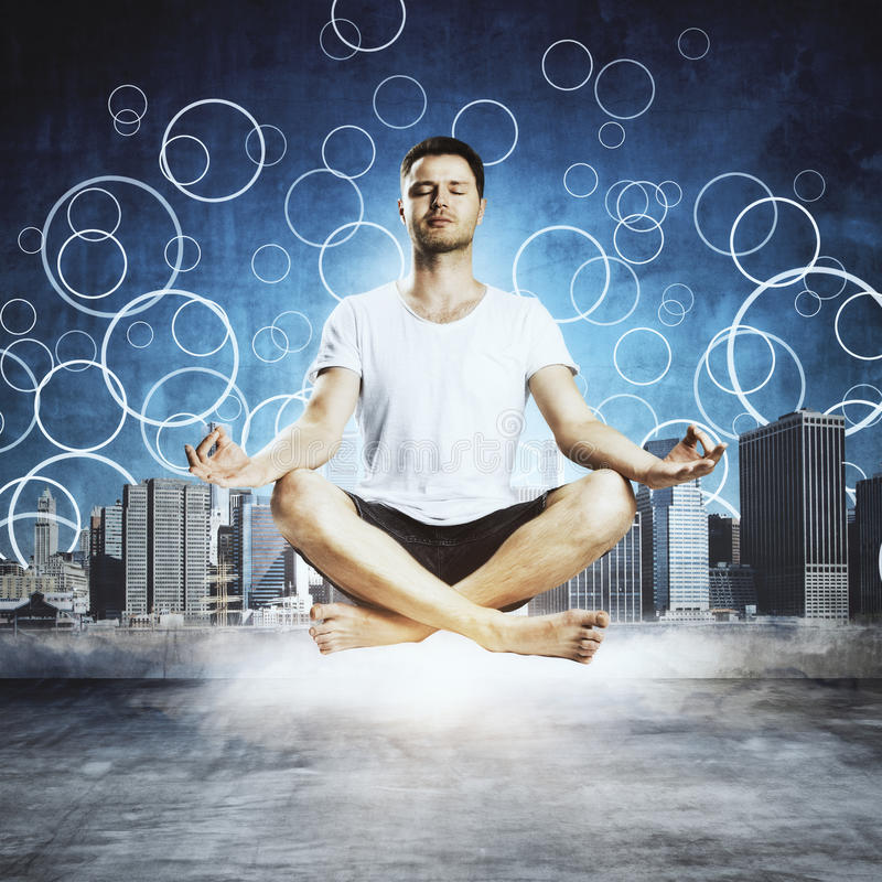 Meditation och sunt begrepp arkivfoton