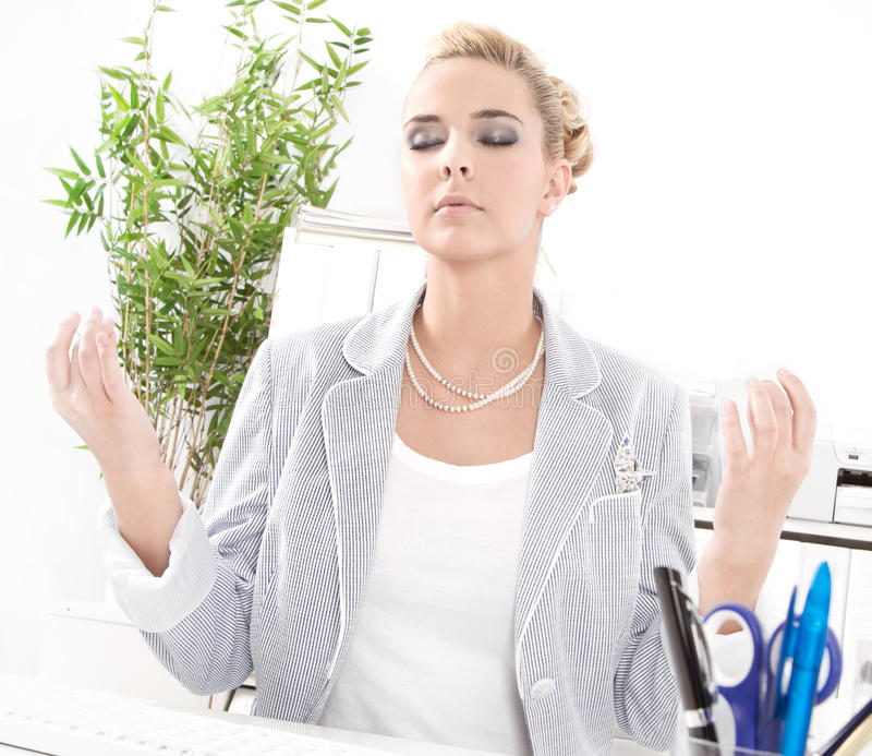 Download Meditation At Office During Lunch Stock Image   Image: 36100595