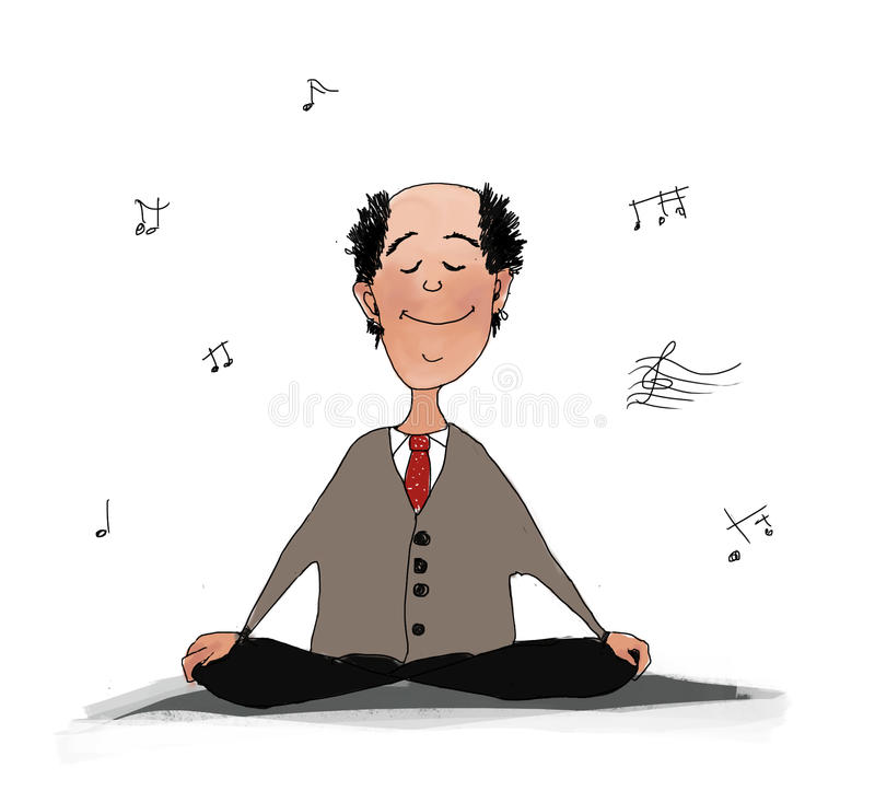 Meditation. royalty free illustration