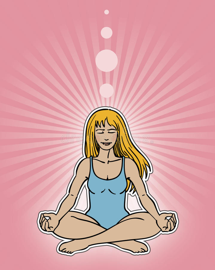Download Meditation Pose stock vector. Illustration of thought - 20511076