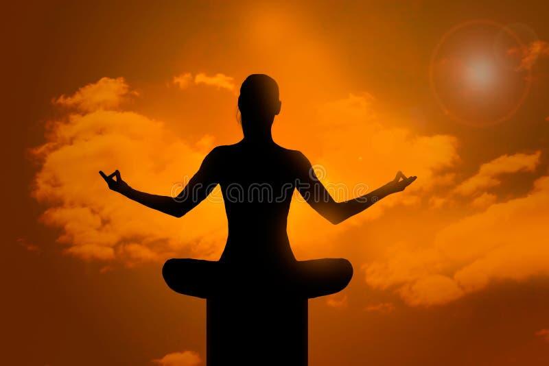Meditation pose royalty free stock photography