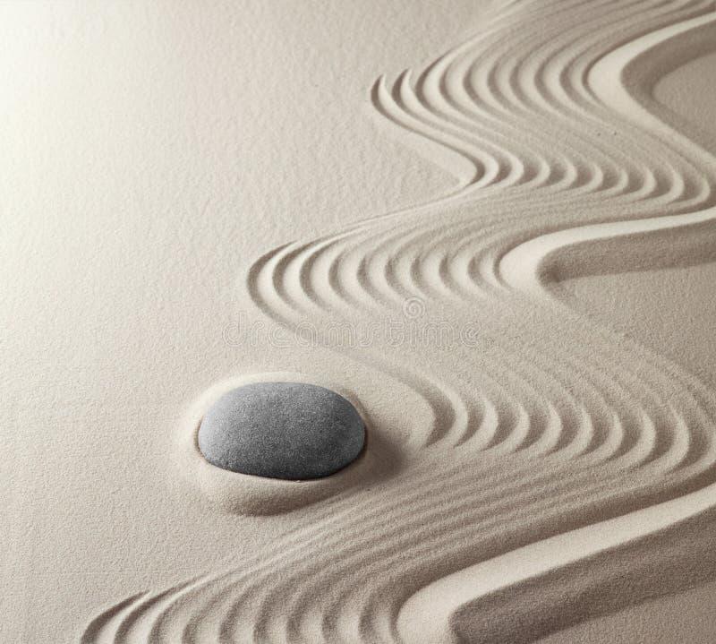 meditation rock Japanese zen garden stock photos