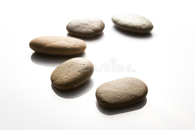 Meditation Rock on White background stock photos