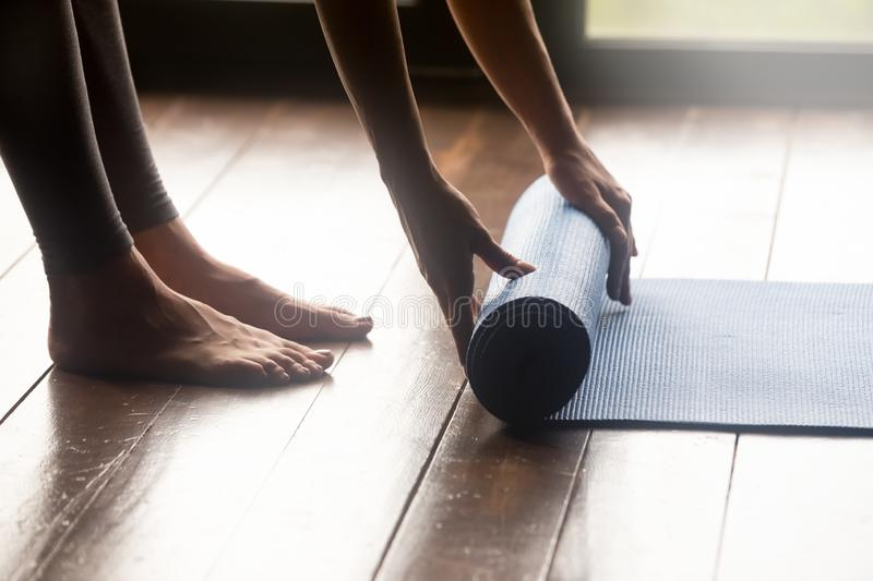 Meditation session, fitness healthy mindful lifestyle concepts stock photography