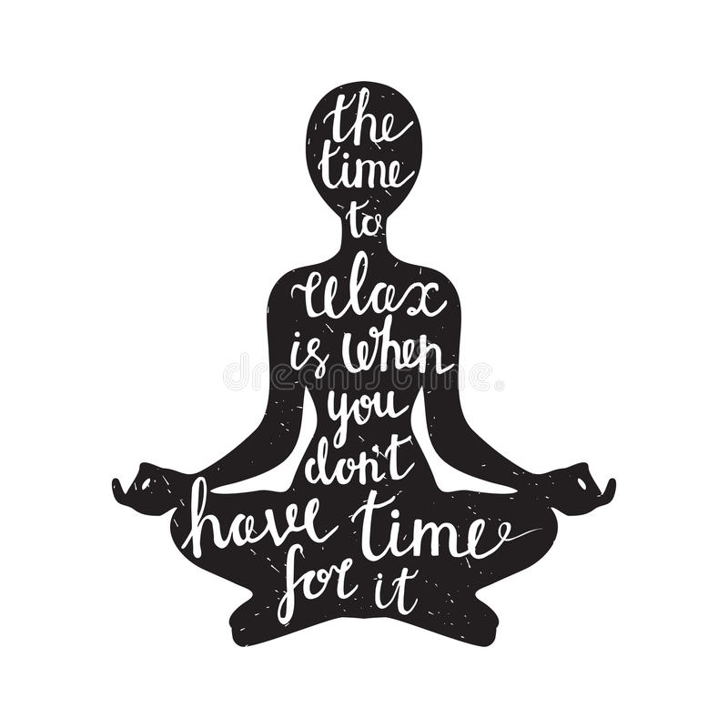 Meditation Silhouette With Quote Stock Vector - Image: 56637828