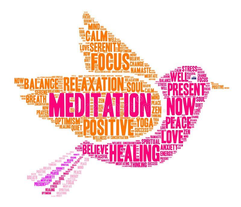 Meditation Word Cloud vector illustration