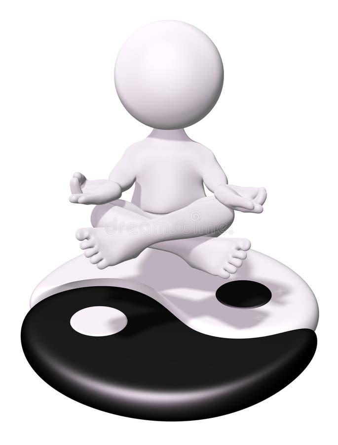 Meditation and Yin Yang royalty free stock images