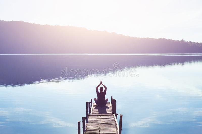 Meditation and yoga royalty free stock photo