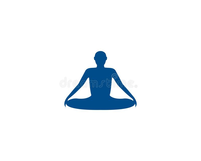 Meditation yoga logo template vector icon royalty free illustration