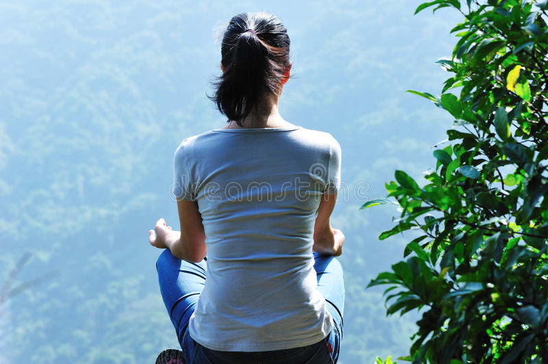 Download Meditation Yoga Mountain Top Stock Photo - Image: 27468850