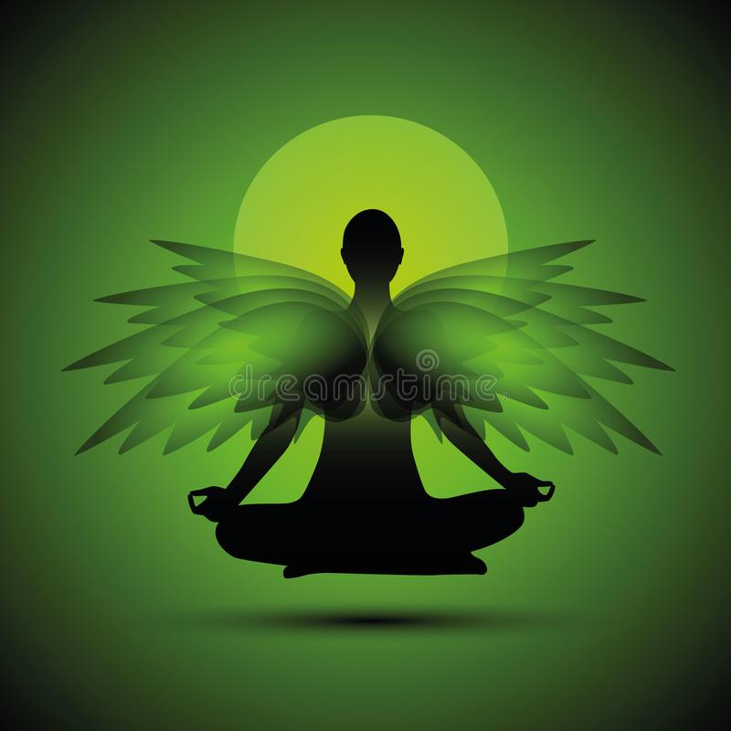 Meditation Yoga Meditating Spirituality Relaxation Stock