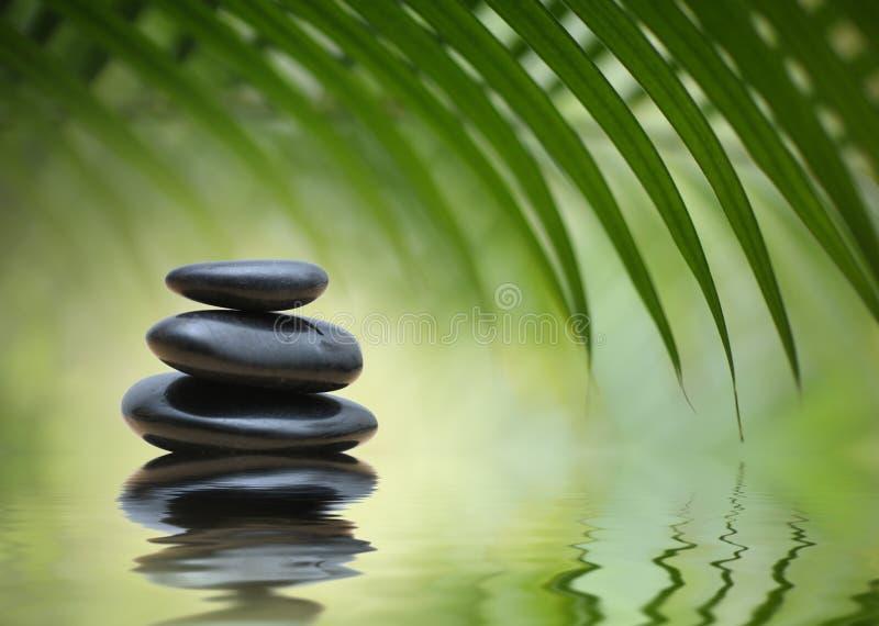 Meditation-Zensteine stockfoto